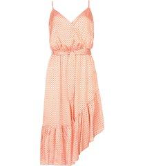 mouwloze jurk met print chomari  oranje