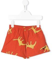 bobo choses leopard print swim shorts - orange