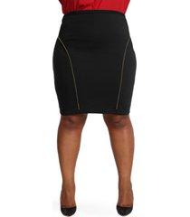 plus size women's poetic justice tiffy ponte knit pencil skirt