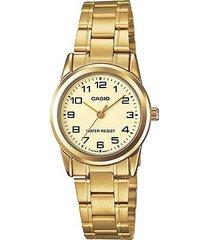 reloj kcasltp v001g 9b casio-dorado
