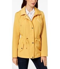 charter club water-resistant hooded anorak jacket, in regular and petite, created for macy's