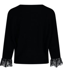 lace details sweatshirt