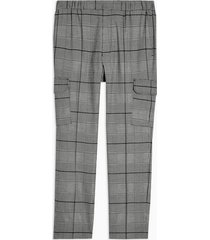 mens black and white check cargo pants
