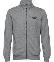 ess track jacket tr sweat-shirt tröja grå puma