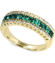 brasilica by effy emerald (1-1/8 ct. t.w.) and diamond (1/8 ct. t.w.) ring in 14k gold