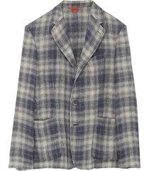 'piero romaso' check linen blazer