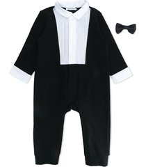dolce & gabbana kids bow tie applique tracksuit - black