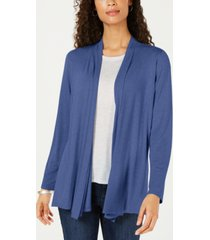 karen scott petite open-front cardigan, created for macy's