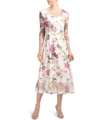 women's komarov charmeuse & lace a-line dress