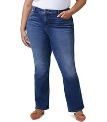 slink jeans high waist bootcut jeans, size 18w in donna at nordstrom