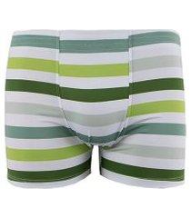 cueca boxer linha noite verde listrado