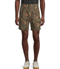 rag & bone men's printed cotton-blend shorts - army floral - size 33