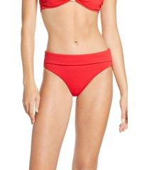 women's melissa odabash brussels bikini bottoms, size 14 - red