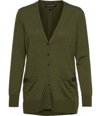 merino long cardigan sweater in responsible wool gebreide trui cardigan groen banana republic