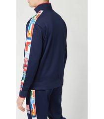 polo ralph lauren men's zip up flag track jacket - newport navy - s