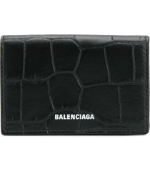balenciaga ville mini wallet - black