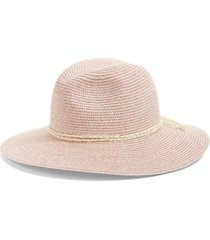 nordstrom packable panama hat in mauve combo at nordstrom
