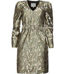jaquard jurk oryn  goud