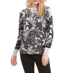 women's nic+zoe black roses sweater