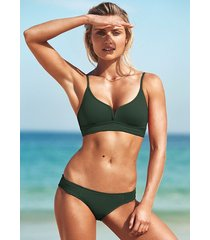 seafolly quilted bralette bikini forest