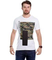 camiseta javali branca camufla - kanui