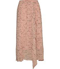 rebeccaiw skirt knälång kjol rosa inwear