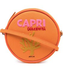 olympia le-tan capri round shoulder bag - orange