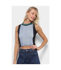 regata colcci cropped tricot listrada feminina