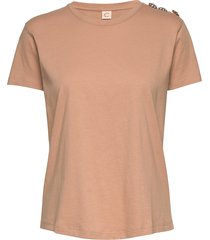 molly crystal t-shirts & tops short-sleeved beige custommade