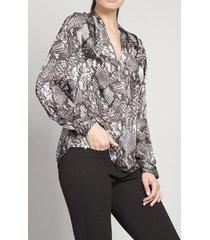 blusa satinada piton gris rock liola