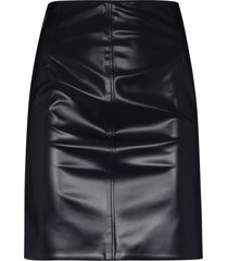 kwaidan editions faux-leather mini skirt - blue