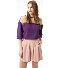 blouse jimmy sanders 19sshtw53028purple blouse