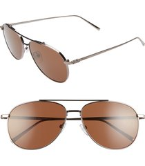 men's salvatore ferragamo capsule 60mm aviator sunglasses -