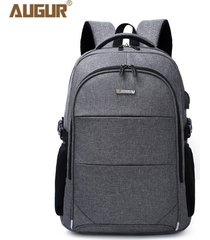 15.6 pulgadas mochila portátil para mujeres hombres oxford mochilas-gris