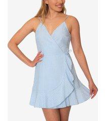 speechless juniors' striped sleeveless seersucker dress