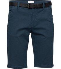 aop chino shorts w?. belt shorts chinos shorts blå lindbergh