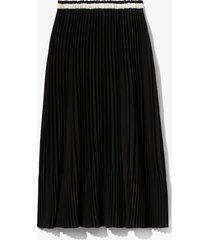 proenza schouler white label crepe pleated skirt black 8