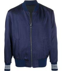 neil barrett contrasting cuffs bomber jacket - blue