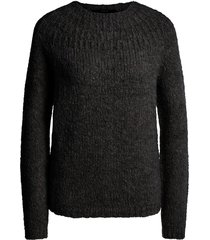 gebreide trui peony  zwart