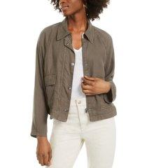 oat raglan patch-pocket jacket