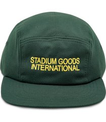 stadium goods embroidered logo camp cap - grey