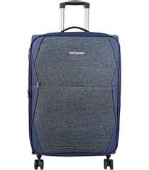 maleta de viaje mediana azul rayo - explora