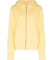 les tien zipped hooded jacket - yellow