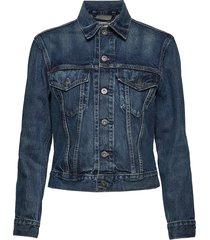 lmc boyfriend trucker lmc russ jeansjack denimjack blauw levi's made & crafted