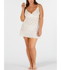 hanky panky plus-size rosalyn lace chemise nightgown 485342x