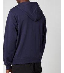 kenzo men's tiger crest full zip hooded sweatshirt - navy blue - xxl
