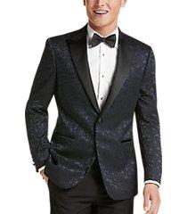 egara blue drip floral slim fit formal dinner jacket