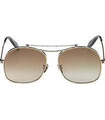 alexander mcqueen women's 59mm square browline sunglasses - gold