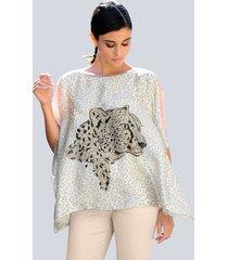 blouse alba moda offwhite::beige::apricot
