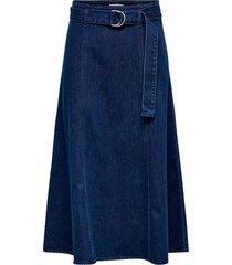 jeanskjol onlronja hw belted dnm skirt